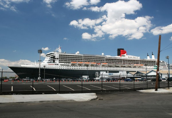 The Queen Mary 2 (QM2) at Brooklyn Cruise Terminal in Red Hook